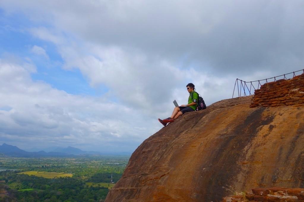 2013年8月、スリランカのシギリヤ・ロックにて