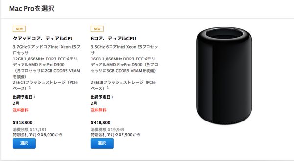 2013年MacProがついに発売
