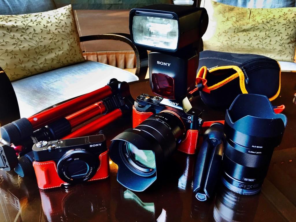 平城寿のカメラ機材一式